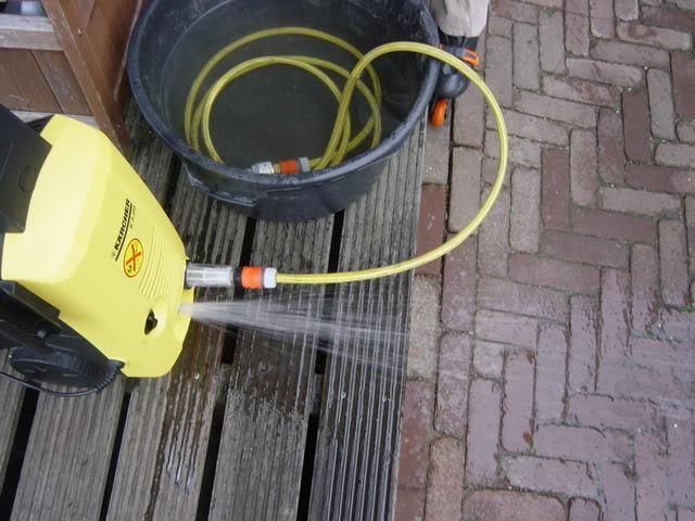 Hd reiniger gebruiken zonder wateraansluiting carclean for Tuinslang aansluiten op kraan zonder schroefdraad