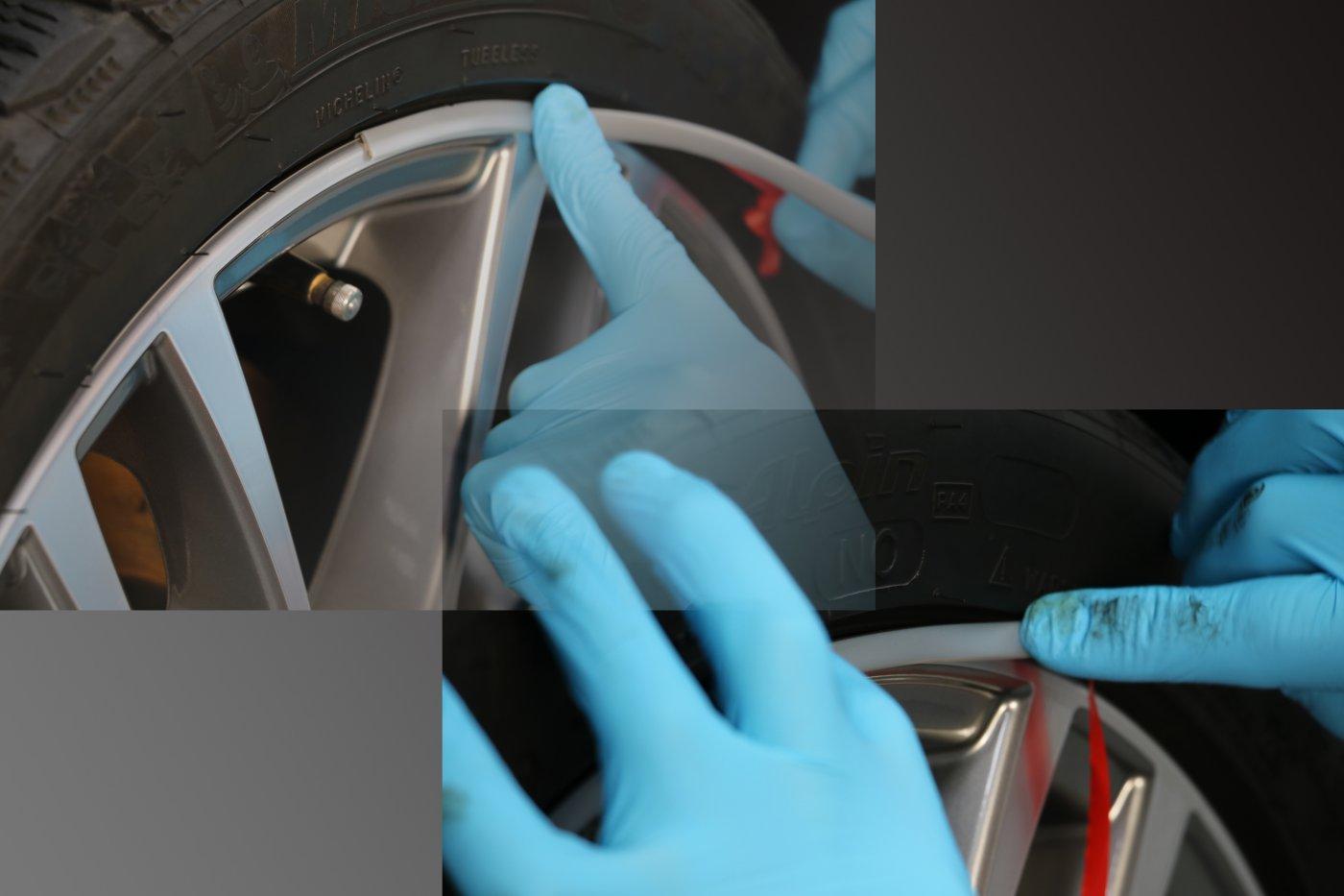 Installatie velgrandbescherming en velgrandstyling